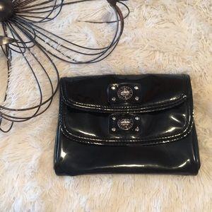 Marc Jacobs Black Patent Leather Double Clutch Bag
